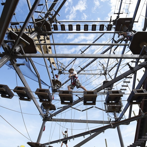 Sky Chaser, ropes course example